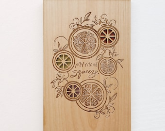 Main Squeeze Wood Card [Love / 5th Anniversary / Wood Anniversary Gift for Him or Her / Custom Anniversary / Valentine / Boyfriend]
