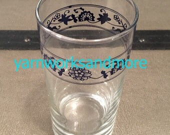 Corning Old Town Blue Glass, Corelle Old Town Blue Tumbler, Corning Glass, Corelle Glass, Corning Drinkware, Vintage 1980s
