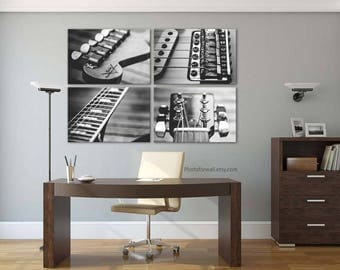 Fender guitar/Fender electric guitar/guitar print/guitar decor/large wall art/black and white photography/Fender poster/guitar player gift