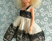 LACE EVENING DRESS for Sindy and other vintage 1011in/2225cm dolls like American Character Toni, Circle P, Miss Revlon, Jill and Jan