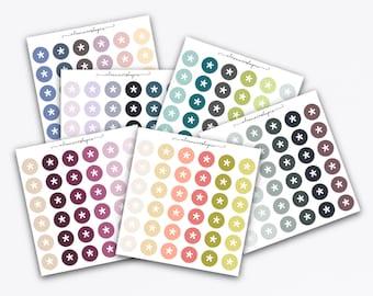Adesivo dot asterisco, 36 adesivi funzionali  — BA001