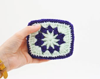 Credit Card Holder. Purple and Green Business Card Case. Vegan Card Wallet. Upcycled Recycled Repurposed. Eco Friendly. Vegan Gift