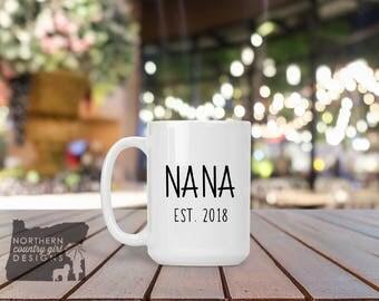 gift for nana pregnancy reveal grandma gift grandma mug nana mug birth announcement new grandma to be gift mothers day gift mom gift nana