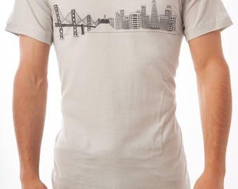 San Francisco Science City Skyline Tee: Bay Area Science Festival - San Franscience - Men's & Women's