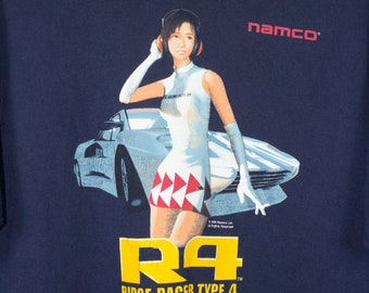 ridge racer type 4 t shirt - vintage 1998 - namco - playstation