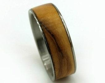 Olive Wood Ring, Bethlehem Olive Wood, Old World Wood, Mediterranean Wood Ring, Wood Ring, Handmade, Womens Ring, Mens Ring, Wedding Ring