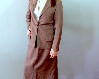 1940s Women's Tweed Powersuit