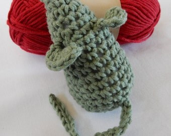 Cat Toy: Green, Crochet Kitten Toy With Catnip
