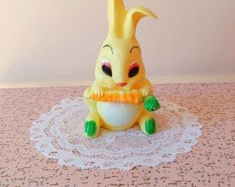 Vintage bunny squeak toy