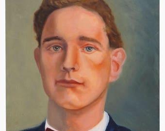 Kim Moore Oil Painting Man Portrait Vintage
