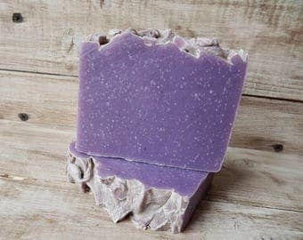 Lilac scented soap, coconut milk soap, floral scent
