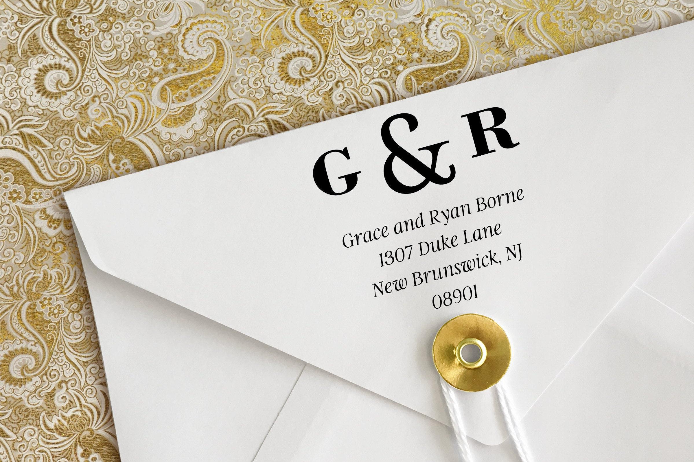 Grace & Ryan Address Stamp Wedding Gift Wedding Address