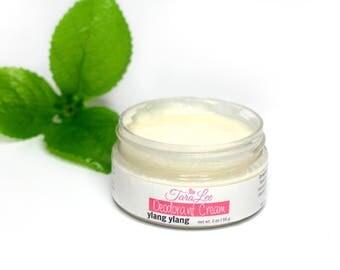 Ylang ylang Deodorant Cream - Natural, Aluminum FREE! Rub on Deodorant that really works, Ylang ylang, Grapefruit, Clove - For Men & Women