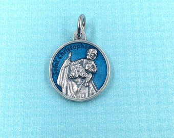 Travellers,Drivers, Storms, Gardeners, Holy Death, Bachelors and Sailors,St Christopher Medal, St Christopher Prayer Medal,Rosary Medal