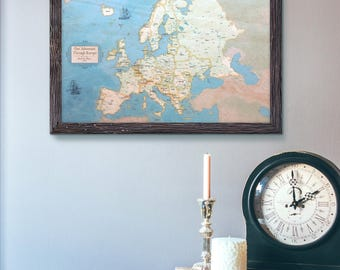 Europe Push Pin Map 13x19"