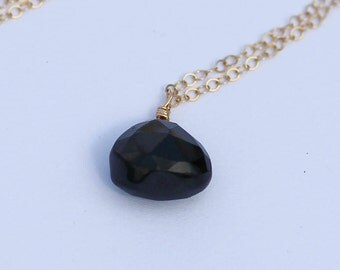 Gifts for Her, Black Onyx Necklace, Black Onyx Pendant, 14K Gold Filled, Sterling Silver, 14K Rose Gold, Gifts For Her, Gifts For Her