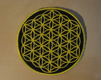 Yellow Flower of Life Patch 3''
