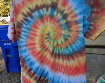Fall Spiral Tie Dye