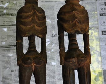 Ethnic wooden statue carved - Himalayas - CC065 couple