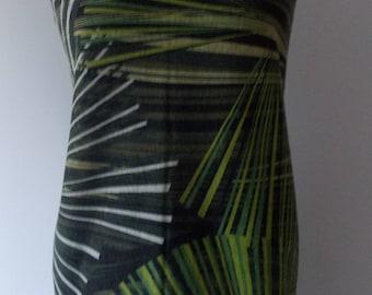 Jersey Palm print khaki Olive Shirts Deco