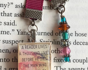 JEWELRY FOR BOOKS!!!  Crafted using vintage Scrabble game tiles!!!