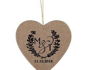 Custom wedding stamp, Personalized invitation wood stamp,Custom monogram stamp,wreath stamp, save the date stamp