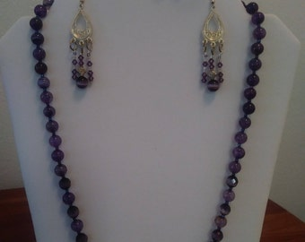 Gorgeous Purple Necklace Set