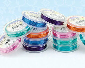 26 Gauge Artistic Wire Beading Wire 15 Yards 26 Gauge Bead Wire Jewelry Wire Craft Wire - You choose the color