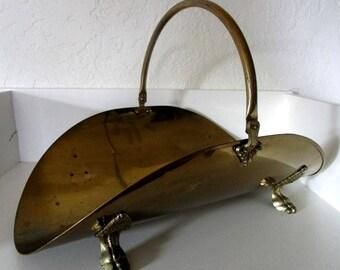 Vintage Goldtone Metal/Brass Log/Firewood Holder