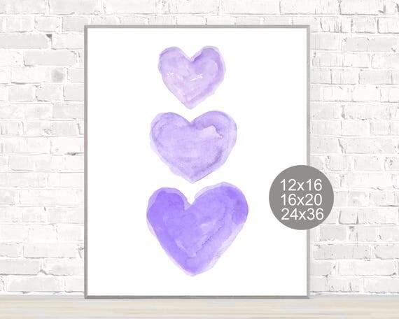 Purple Hearts Poster, 12x16, 16x10, 24x36