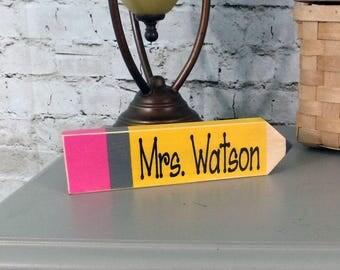 Personalized Teacher Pencil, Teacher Gift, Personalized Teacher Gift, Personalized Pencil, Teacher Name Plate, Teacher Appreciation Gift