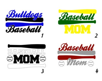 Multi-Color Baseball Bat Decal