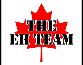 New Color Comedy Sticker Canada Canadian Flag Maple Leaf the Eh Team Cute Funny Gift