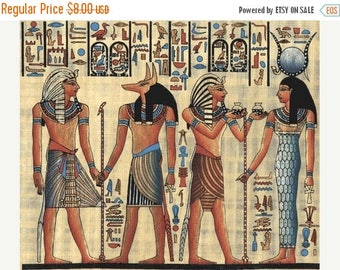 Egyptian Cross Stitch Pattern Pdf hieroglyphs pattern Egyptian pattern - 220 x 182 stitches - INSTANT Download - B661