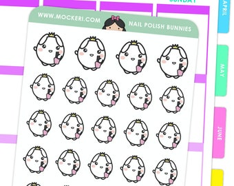 Nail Polish Bunnies / Planner Stickers