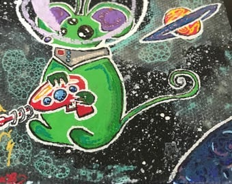 Alien Mouse with Raygun