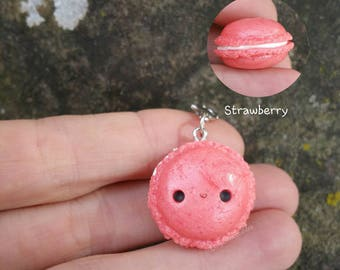 Strawberry Macaron Charm