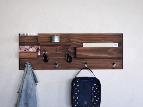 entryway organizer wall mounted floating shelf mail storage key rack and coat rack sunglasses storage family