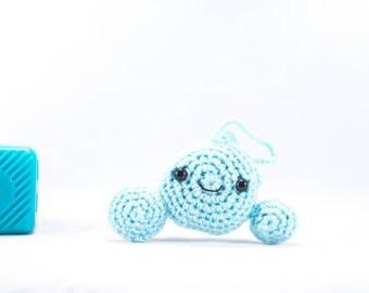 Crochet cloud, car mirror hanger, car decor, cloud car decor, car accessory, amigurumi, crochet weather, weather