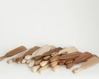 Spurtle wooden white birch  handcarved stir stick