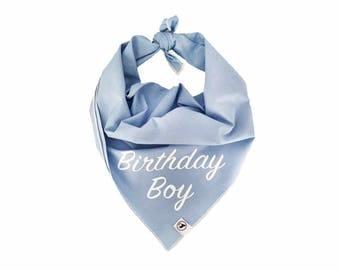 Birthday Boy Dog Bandana. Personalised bespoke bandana