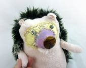 Pinklepoke the Hedgehog, handmade stuffed animal porcupine plushie