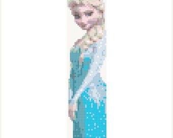 """Elsa bookmark Counted Cross Stitch Elsa Pattern frozen cross stitch modern cross stitch, needlepoint - 1.85"""" x 8.00"""" - L325"""