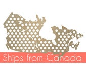 Canada Beer Cap Map *HUGE* Holds over 90 caps, Cap Holder, Cap Display. Gift for Beer Lovers, Gift for Him. Father's Day Gift, Christmas