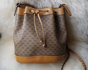 Authentic Vintage Gucci Monogram Bucket Bag