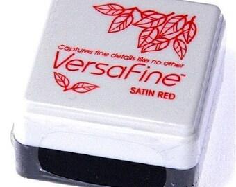 satin red versafine ink