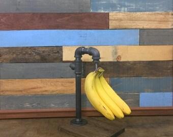 10% OFF Industrial Banana Hanger, Banana Holder, Banana Rack, Fruit Holder, Industrial Decor, Kitchen Storage, Steampunk, Fruit Storage