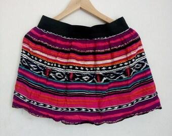 ON SALE 4 Vintage 90s Tribal  Ladies Style Skirt beach wear