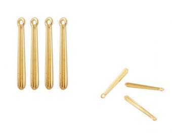 10 charms long drops Gold 30mm