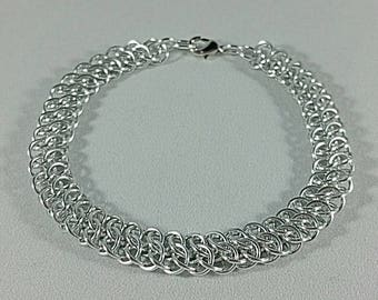 GSG Silver Chainmaille Bracelet Micromaille